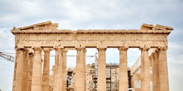 Temple of Parthenon in Acopolis, Athens, Greece