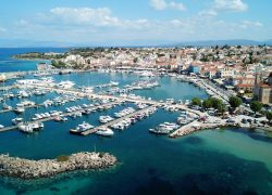 Aerial,Drone,Bird's,Eye,View,Of,Famous,And,Picturesque,Port