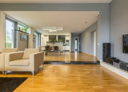 Spacious,Grey,Living,Room,Combined,With,Open,Dining,Room
